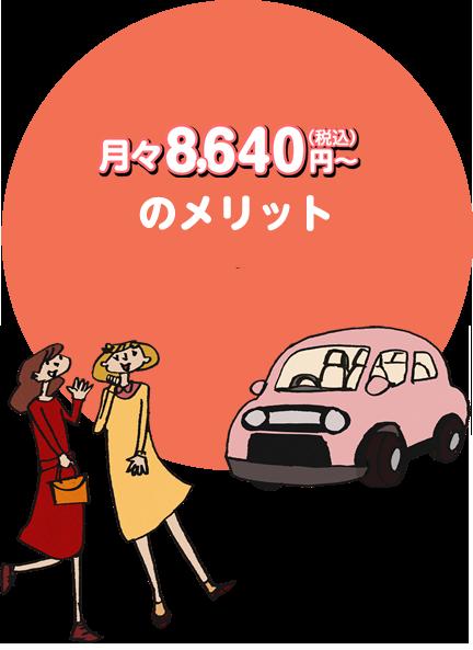 月々8,640円~(税込)のメリット